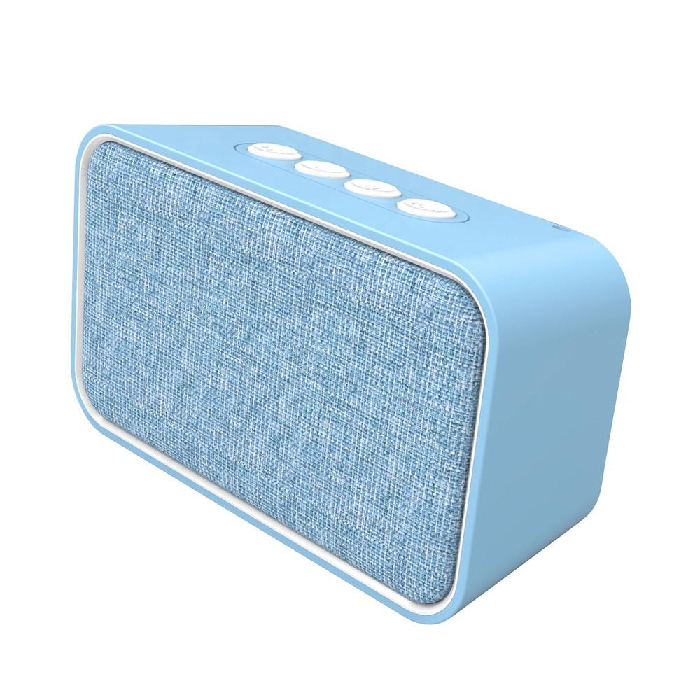 Fabric Wireless Speaker with FM Radio TF Card Slot Aux, Green;blue;orange;taupe