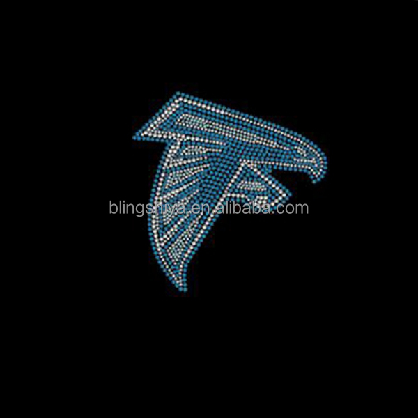 Hotfix Rhinestone Atlanta Falcon Motif Transfers For Football Jersey