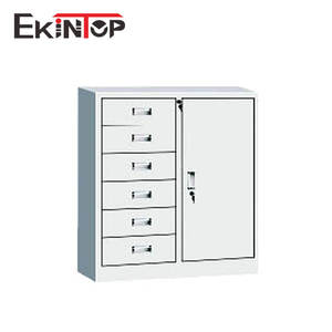 Ekintop designer used cd iron metal tool parts waterproof a3 storage 6 drawers file cabinet for sale