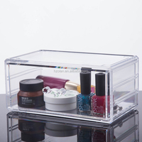 High Quality Acrylic Makeup and Jewelry Storage Box Organizer Holder Case Cosmetics Organizer with Single Drawer