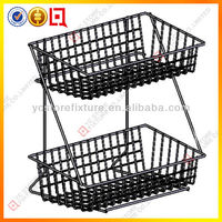 metal countertop baskets with 2 shelves
