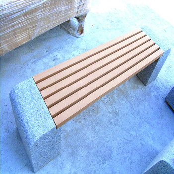 Fine Backless Hdpe Plastic Wood Garden Bench Chair With Outdoor Stone Legs For Leisure Ways Patio Furniture Buy Best Wood To Use For Park Benches Asda Lamtechconsult Wood Chair Design Ideas Lamtechconsultcom