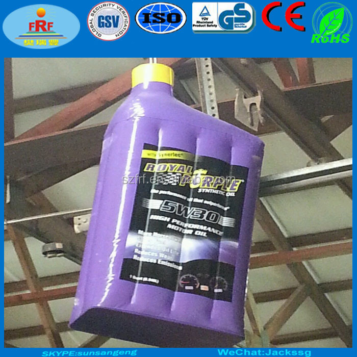 Display Inflatable Oil Bottle, Promotion Inflatable Oil Bottle