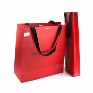 Wholesale Foldable Shopping Gift Paper Packing Bags For Cloth