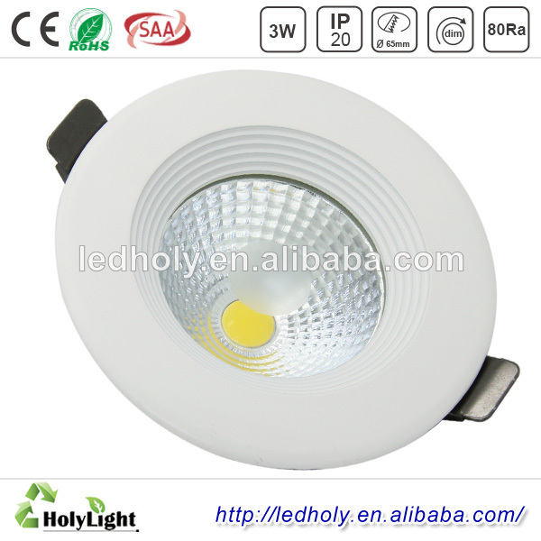 Warm Cool White 120v 230v 60 Degree 3 inch 7w led downlight with cutout 75mm