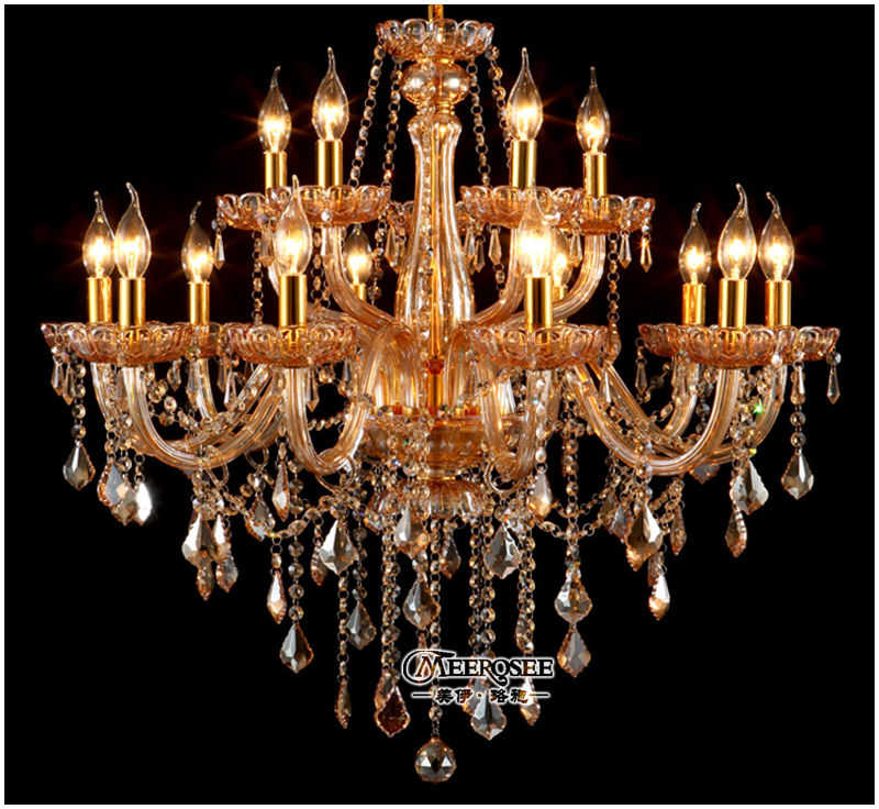 New High Quality Luxury Indian Chandeliers Design Amber Chandelier Lamp Modern Hanging Light Fixtures Md8821 L15