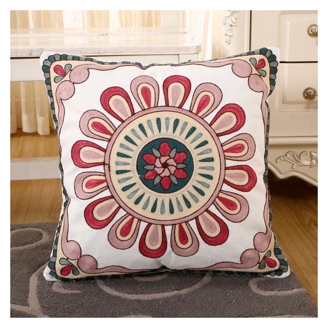 "Designed Hand Flannele Embroidery Cushion Covers 18/""x18/"" Home Fashion"