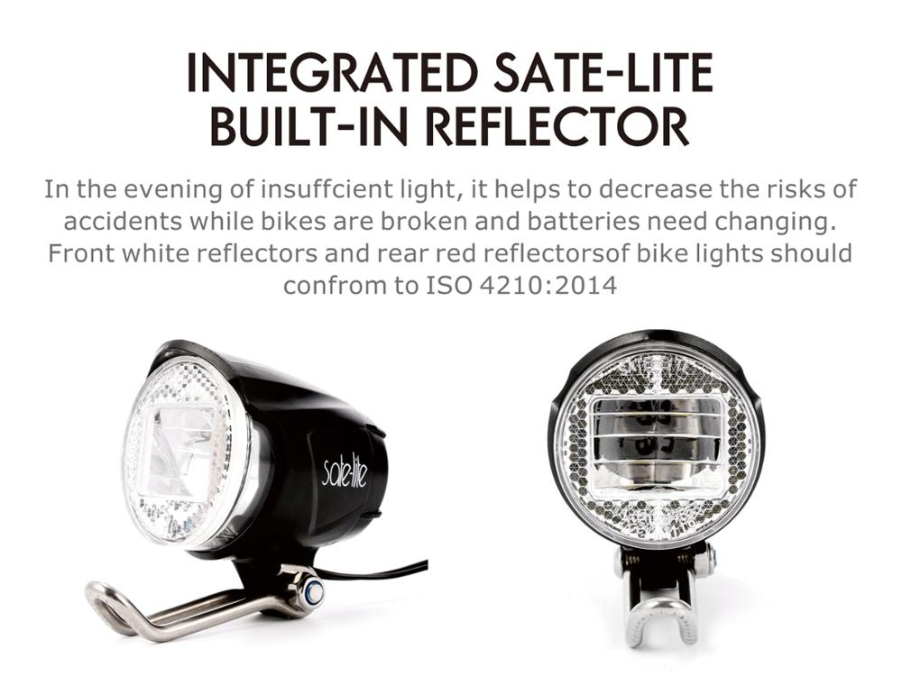 Sate-Lite e-scooter light bicycle lamp with German StVZO approved  bike lamp front lamp C1