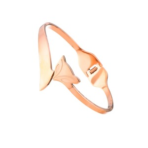 2016 New Stainless Steel 18K Rose Gold Cute Fox Bangle for Women,Girls