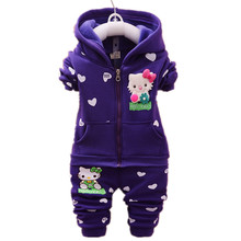 Baby Girls Clothes Set Spring Autumn Winter Kid Thicken Warm Kid Clothes Set Children Cardigan Sweaters+Pant Set