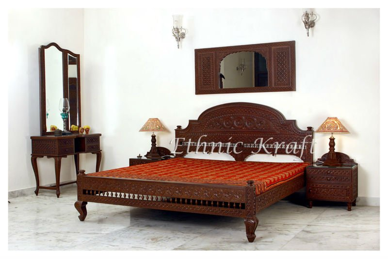 Round Back Design Double Beds   Buy Indian Carved Furniture Product On  Alibaba.com
