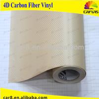 flexible high quality polymeric 4d carbon vinyl film/color change vinyl film/4d carbon car sticker/ air bubble free/China