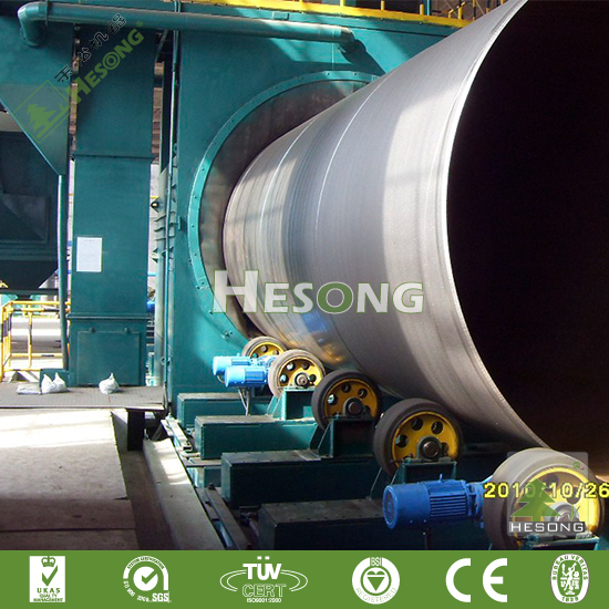 ISO Approved Steel Pipe Wall Shot Blasting Machine /Sand Blasting Machine