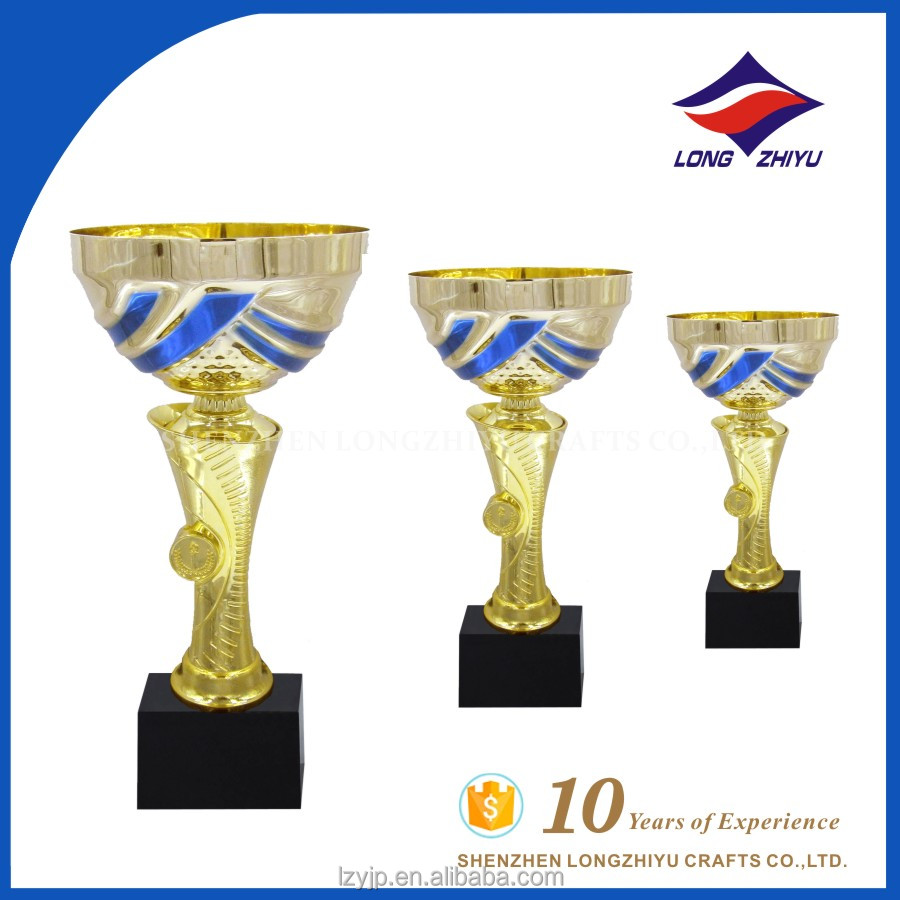 Irregular shape hot sales company promotion gold trophy