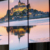 Mountain reflection sunset 3d decoration 5 panel printed canvas wall  oil art