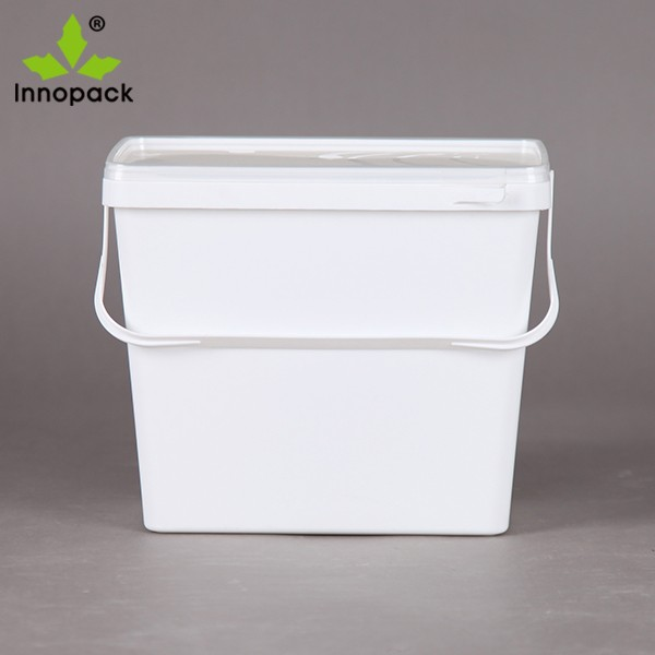 Innopack 3 7 Litre 1 5 Gallon White Clear Square Oblong Plastic Food Grade Buckets With Lids Buy Plastic Buckets With Lids 5 Gallon Buckets Buckets With Lid Product On Alibaba Com