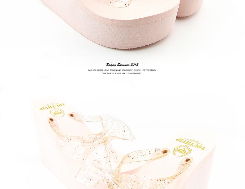 אולטרה עקבים גבוהים קשת של נשים כפכפים בקיץ להחליק עמיד פלטפורמת הידוק הלסת פלטפורמת נעלי בית סנדלי טריזים