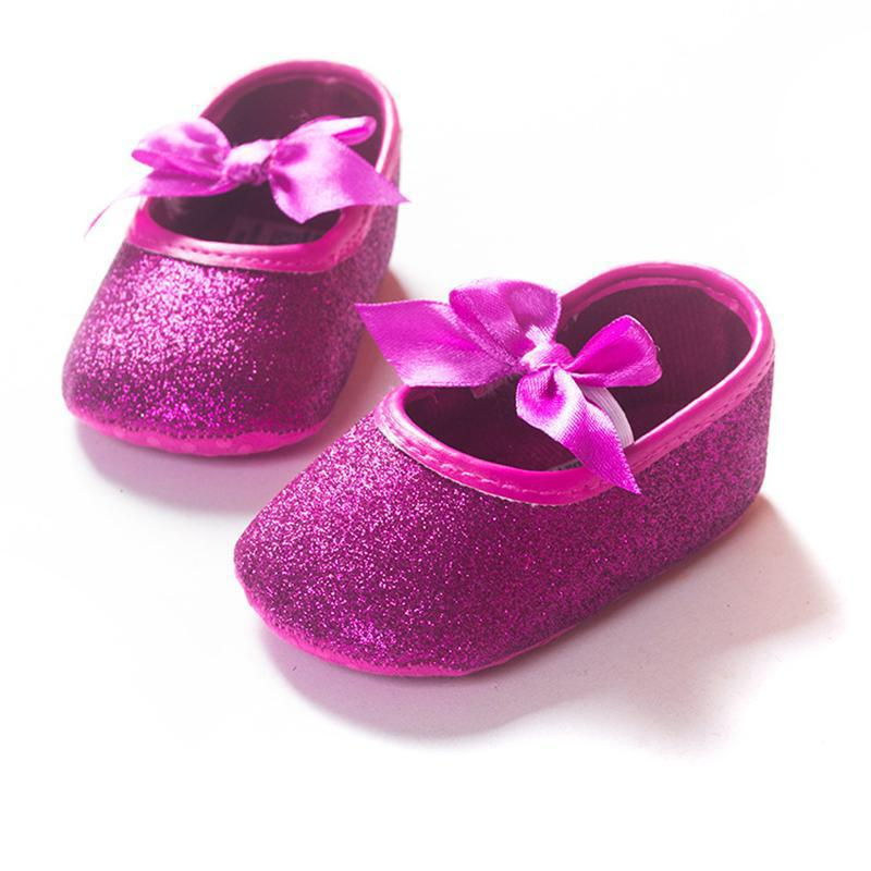 43ec936355c77 Fashion Gold Color Baby Girl Princess Sparkly Shoes Mary Jane Blingbling  Sequin Bow Moccasins Infant Toddlers Soft Sole Shoes