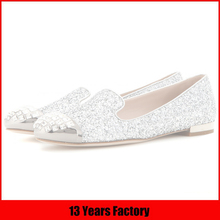China Alibaba Online Store Flats Wholesale Glitter Shoes