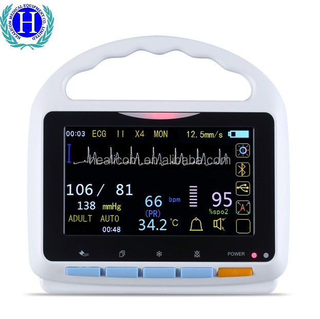 CE Marked HM-2000A Meidcal Tabletop Multi-Parameter Patient Monitor with Low Price