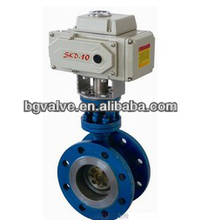 Double Flanged electric actuated Butterfly Valves