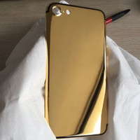 For iPhone Compatible Brand and Bar Design Customization for iphone 7 24k gold housing