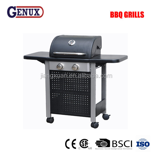 2 main burners bbq gas indoor grill