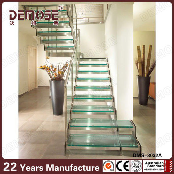 timber wood staircase/stainless steel stair/staircase design