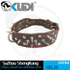 Fashionable pet product brown spiked leather collar SKL20