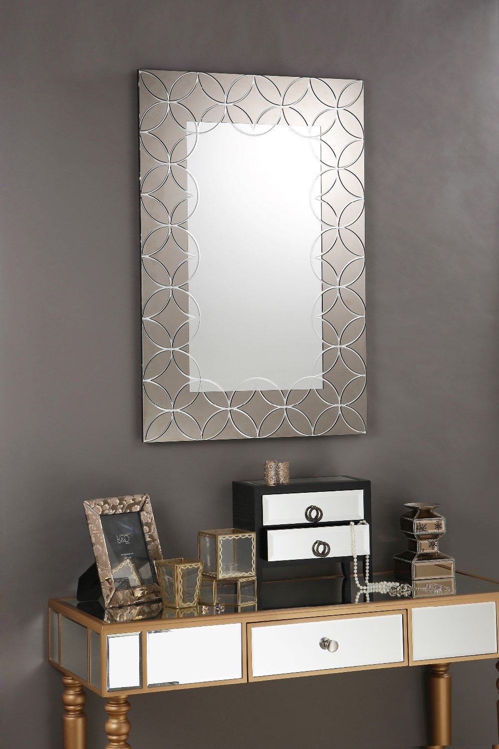 Argent Crystal Engraving Etched Bathroom Wall Decorative Mirror Buy Bathroom Mirror Wall