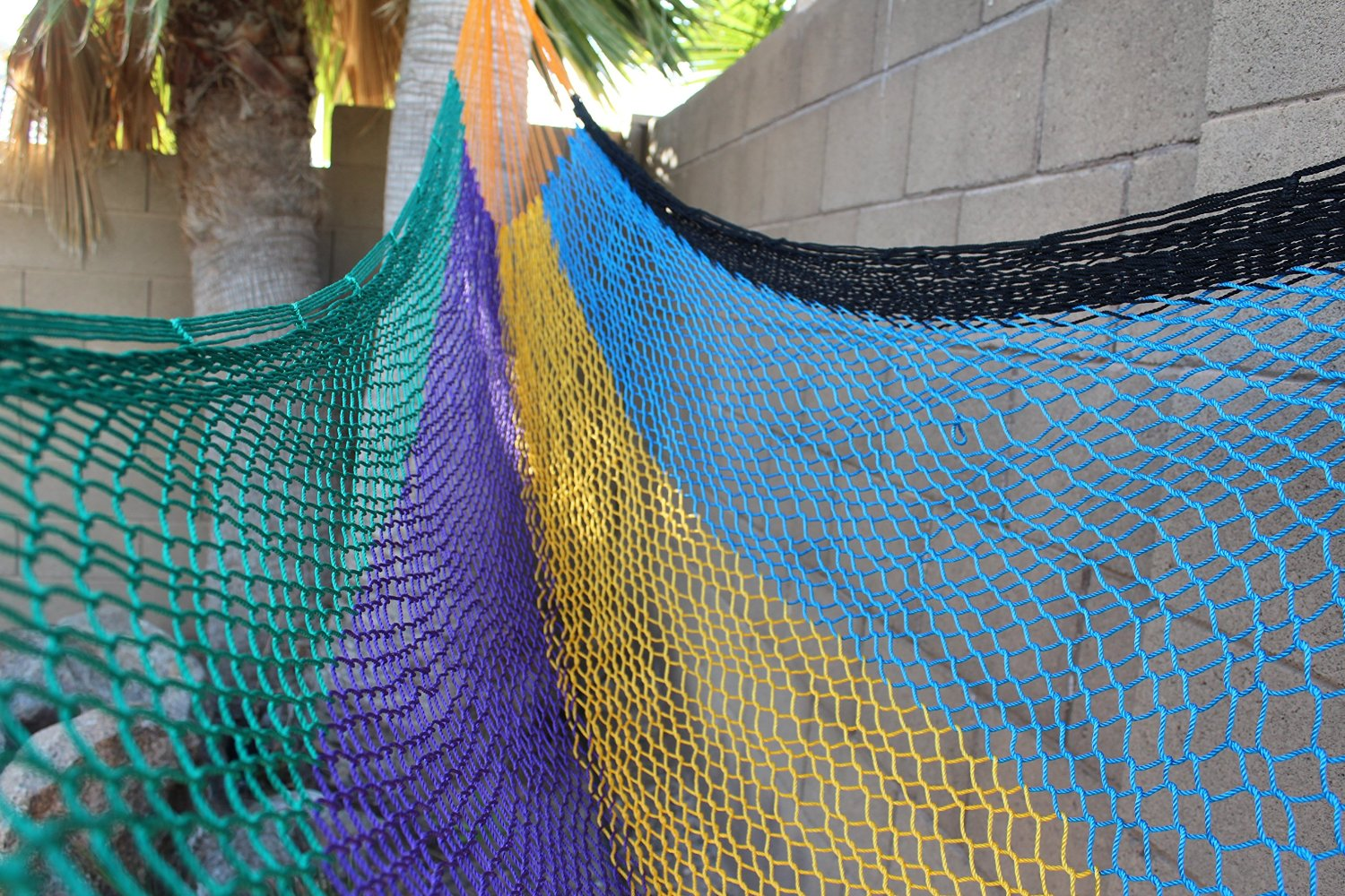 Multi-Color Handwoven Mexican Mayan QUEEN SIZE FAMILY Hammock Authentic