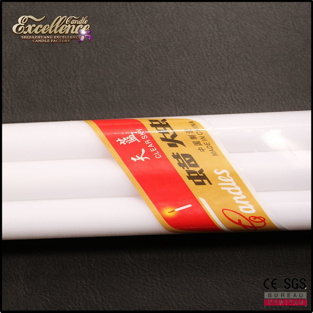 good quality box package 38g pillar white householding candle for Cameroon