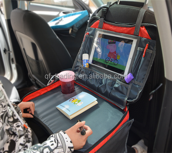 Travel tray and storage folding lap desk for kids