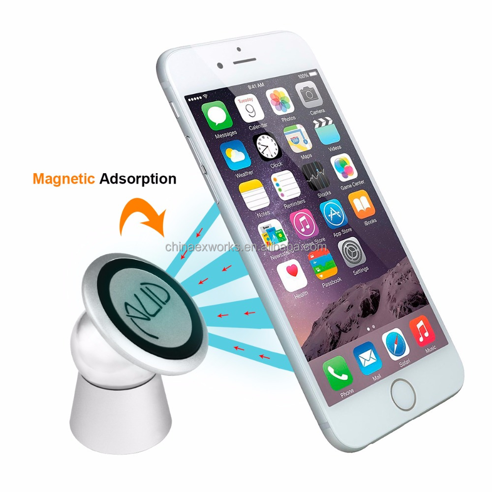 Logo Customized Hot Revolving Magnet Car Cell Phone Holder Compatible For Mobile