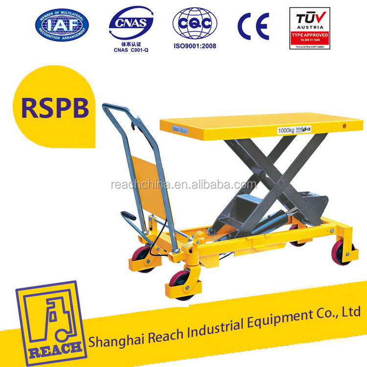 Easy to operate wholesale price manual scissor lift table trolley