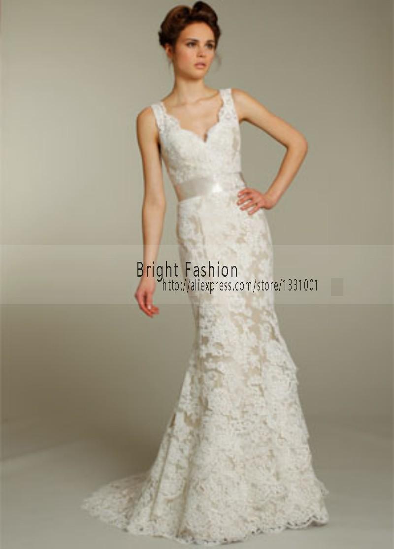 Modest Lace Mermaid Wedding Dress 2016 New Sexy Weeding ...