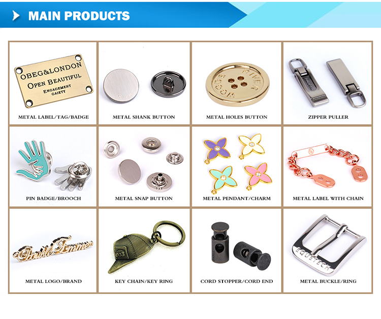 Hoge Kwaliteit Metalen Custom Logo Rits Puller Voor Kleding