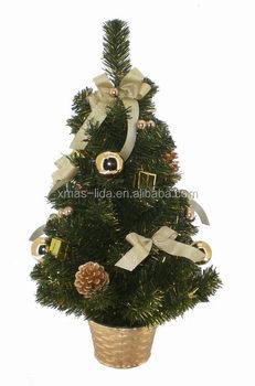 Glitter Plastic Ball Decoratived Luxury Mini Christmas Tree