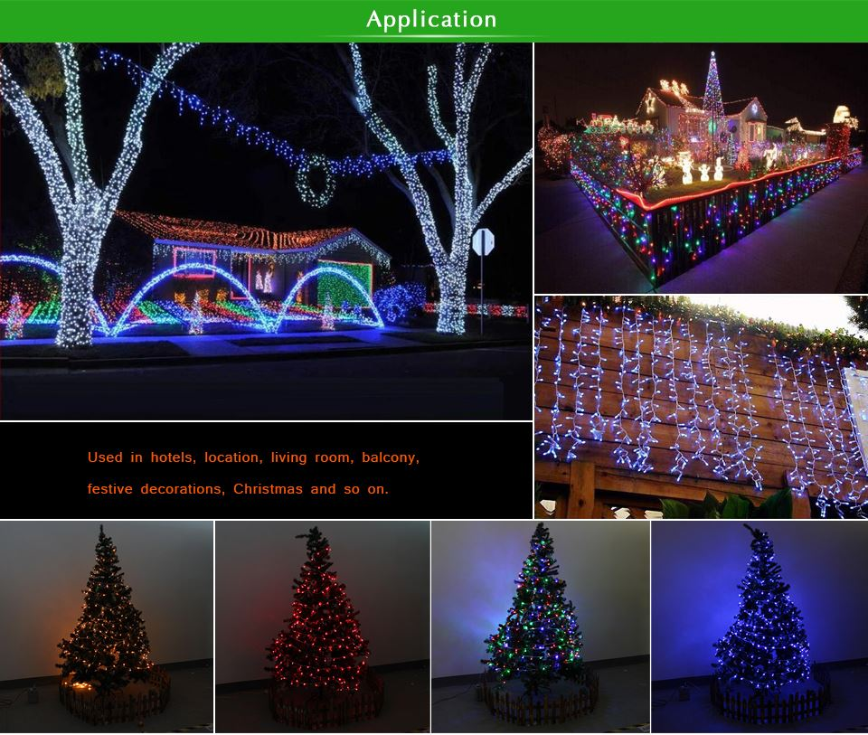 10M Led Curtain String Lights Led Fairy Lights Christmas Lamps Icicle Lights  Xmas Wedding Party Decoration