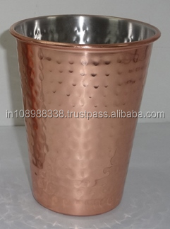 Copper Plated Pint Glass Hammered Stainless Steel Pint Glass Stainless Steel tumbler