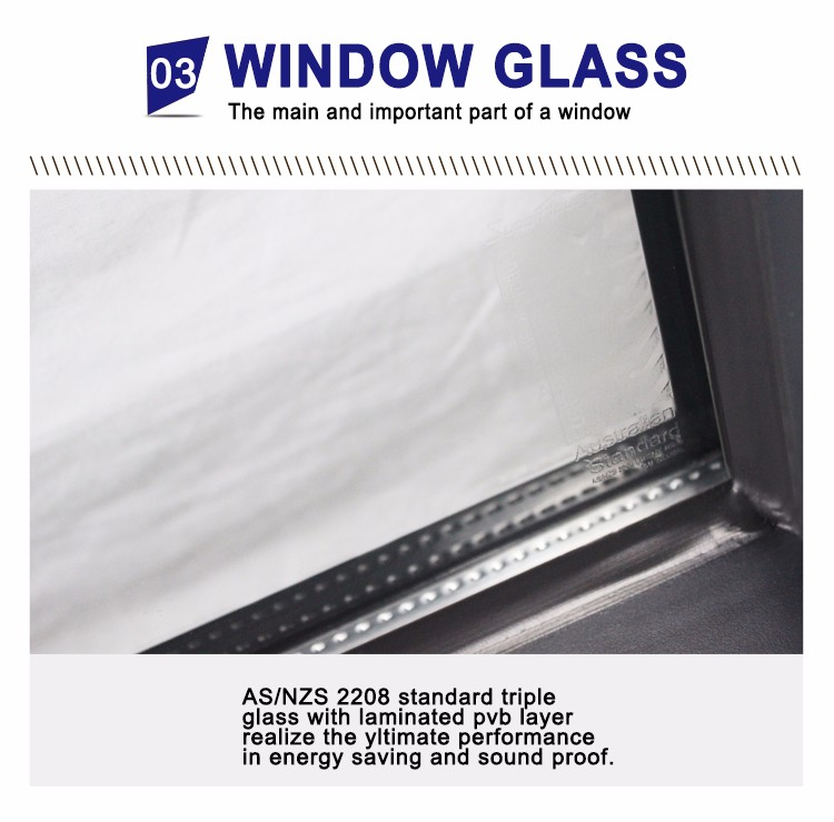 Superwu high quality double glazed aluminium awning windows for commercial use