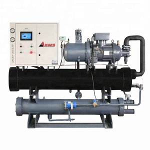 AGS-075WSH Water cooled 75hp screw chiller for industry 250kw water chiller for concrete batch plant