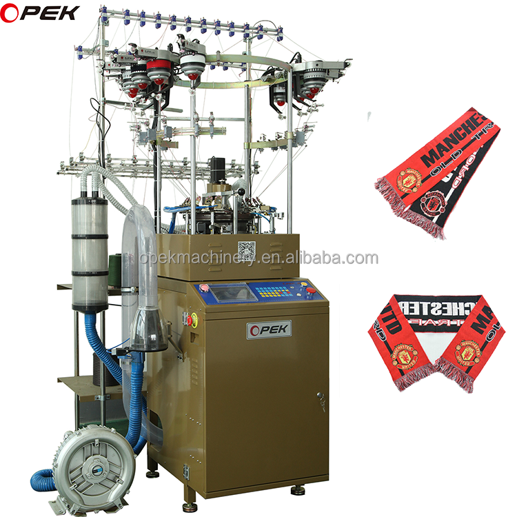 CE certificated circular knitting machine for football scarf and hat knitting