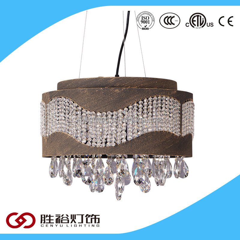 hot sale led concrete pendant light luxury crystal chandelier for home or hotel