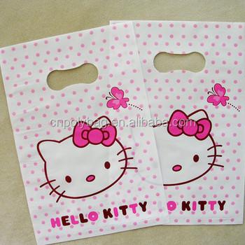 ec8ec1071f2c Custom Printed Logo die cut shopping bag plastic bag cute hello kitty bag