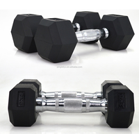 Crossfit New Design Gym Basic Equipment Rubber Coated Hex Dumbbell