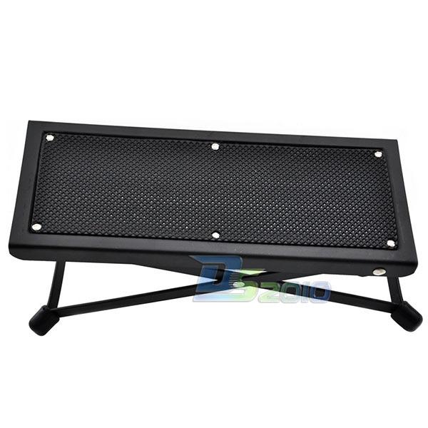 adjustable acoustic folding electric guitar footrests black metal stool guitars. Black Bedroom Furniture Sets. Home Design Ideas