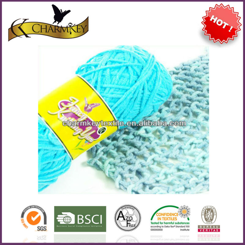 2014 new style cotton /acrylic blend yarn for weaving and knitting