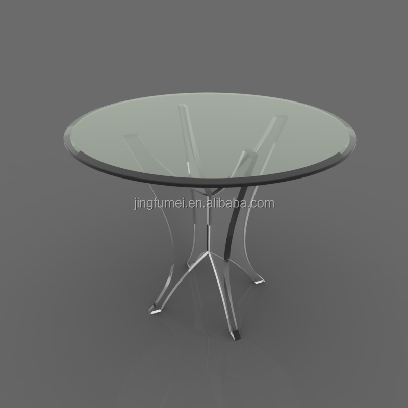 BAP round shape Acrylic coffee table with rose, dining table, wholesale Furniture