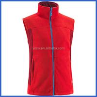 Unisex sleeveless polyester micro fleece vest